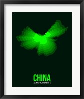 Framed China Radiant Map 3