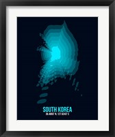 Framed South Korea Radiant Map 2