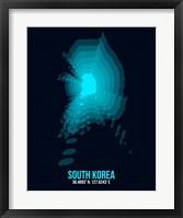 Framed South Korea Radiant Map 2