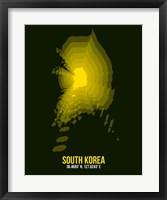 Framed South Korea Radiant Map 3
