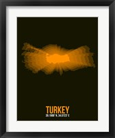 Framed Turkey Radiant Map 2