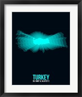 Framed Turkey Radiant Map 3