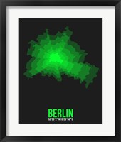 Framed Berlin Radiant Map 4