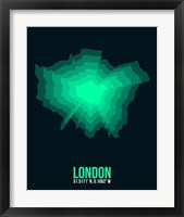 Framed London Radiant Map 1