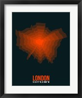 Framed London Radiant Map 3