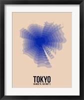 Framed Tokyo Radiant Map 2