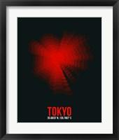 Framed Tokyo Radiant Map 3