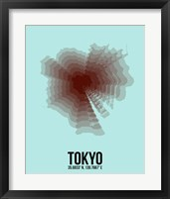Framed Tokyo Radiant Map 4