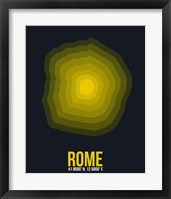Framed Rome Radiant Map 4