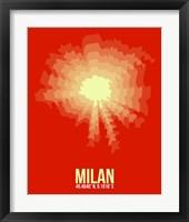 Framed Milan Radiant Map 2