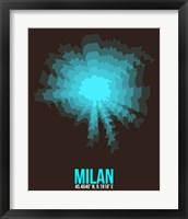 Framed Milan Radiant Map 3