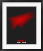 Framed Toronto Radiant Map 1