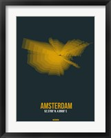 Framed Amsterdam Radiant Map 3
