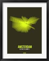 Framed Amsterdam Radiant Map 5