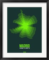 Framed Madrid Radiant Map 2