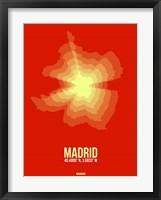 Framed Madrid Radiant Map 4