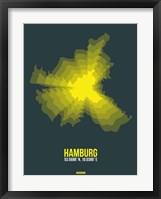 Framed Hamburg Radiant Map 3