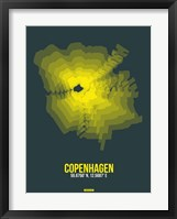 Framed Copenhagen Radiant Map 1