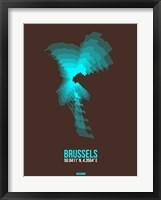 Framed Brussels Radiant Map 1
