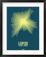Framed Leipzig Radiant Map 3