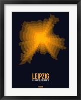 Framed Leipzig Radiant Map 4