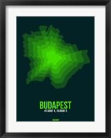 Framed Budapest Radiant Map 2