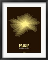 Framed Prague Radiant Map 1