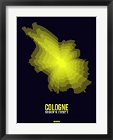 Framed Cologne Radiant Map 3