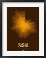 Framed Warsaw Radiant Map 1