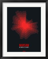 Framed Warsaw Radiant Map 4