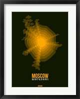 Framed Moscow Radiant Map 2