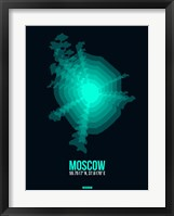 Framed Moscow Radiant Map 3