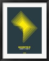 Framed Washington DC Radiant Map 4