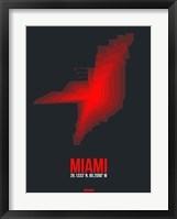 Framed Miami Radiant Map 3