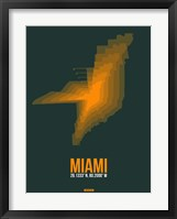 Framed Miami Radiant Map 4