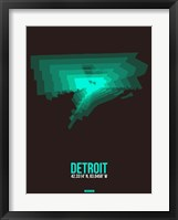 Framed Detroit Radiant Map 4