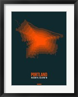 Framed Portland Radiant Map 3