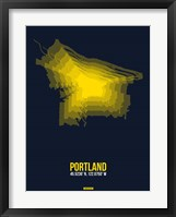 Framed Portland Radiant Map 4