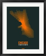 Framed Chicago Radiant Map 4
