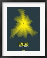 Framed Dallas Radiant Map 1