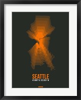Framed Seattle Radiant Map 3