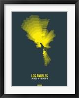 Framed Los Angeles Radiant Map 1