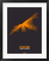 Framed Cleveland Radiant Map 3