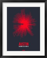 Framed Austin Radiant Map 2