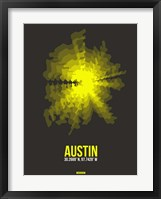 Framed Austin Radiant Map 3
