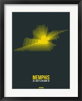 Framed Memphis Radiant Map 1