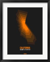 Framed California Radiant Map 2