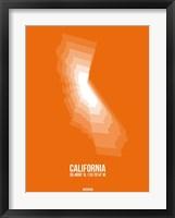 Framed California Radiant Map 7