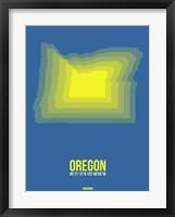 Framed Oregon Radiant Map 1