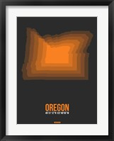 Framed Oregon Radiant Map 4